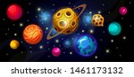 space with fantastic planets ...   Shutterstock .eps vector #1461173132