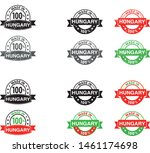 made in hungary collection of... | Shutterstock .eps vector #1461174698