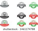 made in hungary collection of... | Shutterstock .eps vector #1461174788