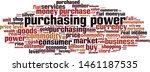 purchasing power word cloud... | Shutterstock .eps vector #1461187535