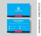 professional business card... | Shutterstock .eps vector #1461193115