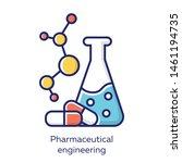 pharmaceutical engineering... | Shutterstock .eps vector #1461194735