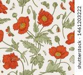 vintage floral illustration.... | Shutterstock .eps vector #1461203222