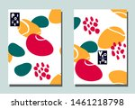 cover with graphic elements  ... | Shutterstock .eps vector #1461218798