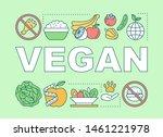 vegan lifestyle word concepts...