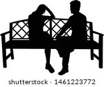 silhouettes of couples. vector... | Shutterstock .eps vector #1461223772