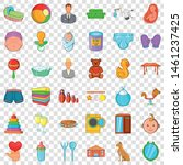 playing icons set. cartoon... | Shutterstock .eps vector #1461237425