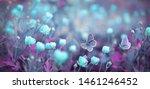 Wild Light Blue Flowers In...