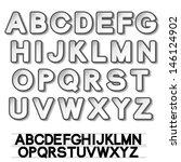 vector paper font alphabet  ...   Shutterstock .eps vector #146124902