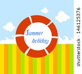 summer holiday red float | Shutterstock .eps vector #146125376
