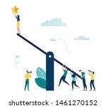 vector illustration of groups... | Shutterstock .eps vector #1461270152