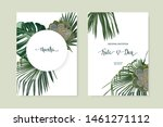 jungle set  with tropical... | Shutterstock .eps vector #1461271112