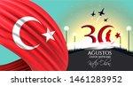 vector illustration 30 agustos...   Shutterstock .eps vector #1461283952