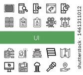 set of ui icons such as goal ...