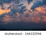 Dramatic Evening Cloudscape In...