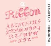 gentle feminine ribbon alphabet ...   Shutterstock .eps vector #1461354965