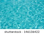 blue pool water with sun... | Shutterstock . vector #146136422