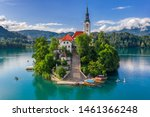 Bled  Slovenia   Aerial View Of ...