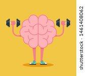 brain training with dumbbell... | Shutterstock .eps vector #1461408062