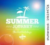 summer sunrise hawaii journey... | Shutterstock .eps vector #146144726