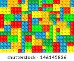 plastic blocks. seamless texture | Shutterstock .eps vector #146145836