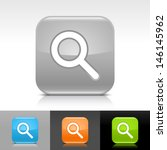 magnifying glass icon. blue ...