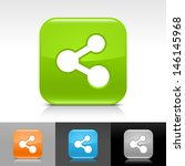 share icon. blue  orange  green ...