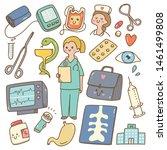 kawaii cartoon doctor with...   Shutterstock .eps vector #1461499808
