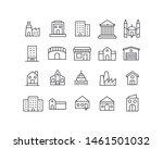 simple set of buildings modern...   Shutterstock .eps vector #1461501032