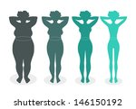 ladies silhouettes with... | Shutterstock .eps vector #146150192