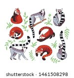 hand drawn vector set of red... | Shutterstock .eps vector #1461508298