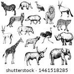 big set of hand drawn sketch... | Shutterstock .eps vector #1461518285