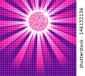funky pink discoball with dot... | Shutterstock .eps vector #146152136