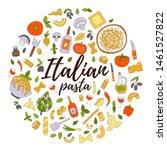 italian pasta. lettering with... | Shutterstock .eps vector #1461527822