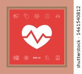 heart medical icon. graphic... | Shutterstock .eps vector #1461540812