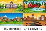 set of scenes in nature setting ... | Shutterstock .eps vector #1461552542