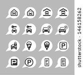 parking pictograms | Shutterstock .eps vector #146158262