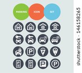 parking icon set   Shutterstock .eps vector #146158265