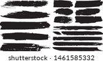 set of vector grunge brushes in ... | Shutterstock .eps vector #1461585332