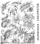 wrap fabric texture  floral... | Shutterstock . vector #1461594728