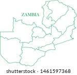 zambia green line map vector | Shutterstock .eps vector #1461597368