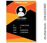 modern and cool business card... | Shutterstock .eps vector #1461622385