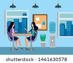 businesswomen sitting in the... | Shutterstock .eps vector #1461630578