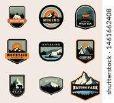 outdoor vacation badge logo... | Shutterstock .eps vector #1461662408