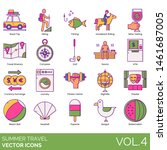summer travel icons including...   Shutterstock .eps vector #1461687005