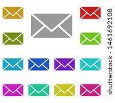 mail multi color icon. simple...