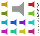sound multi color icon. simple...