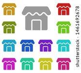 store multi color icon. simple...
