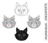 wolf muzzle icon in cartoon... | Shutterstock . vector #1461693575