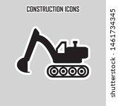 construction truck machine... | Shutterstock .eps vector #1461734345